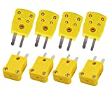 K Type Thermocouple Wire Connector Mini Plug Wire Male RTD Circuits Yellow Plastic Case Th...