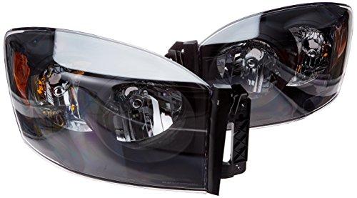 Spec-D Tuning 2LH-DGP06JM-RS Dodge Ram Pickup Black Diamond Headlights W/O Amber Bar
