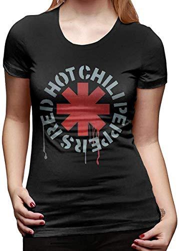 Vrouwen kant T-stuk glimmende Paprika peper logo grappig T-shirt