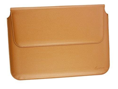 emartbuy Braunen PU Leder Magnetisches Kasten Folio Tasche Mappen Kasten Abdeckung Hülse 11.6 Zoll - 13.5 Zoll Geeignet Für Ausgewählte Geräte Unten Aufgeführt