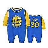 NIUPUPU NBA Basketball Trikot Lebron Raymone James 23 Stephen Curry 30 Bulls 23 Baby Strampler Creepers Sportfan