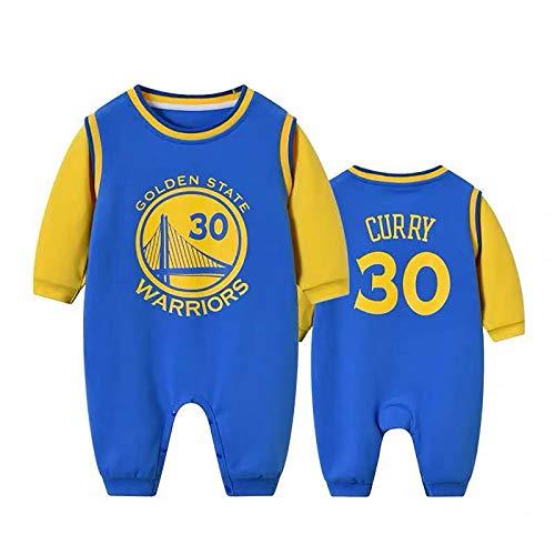 ZGRNB NBA Camiseta de Baloncesto Aficionado a los Deportes Baby Creepers Mamelucos Los Angeles Lakers 23 Golden State Warriors 30 Chicago Bulls 23 Mono Cardigan Altura 59 cm-100 cm