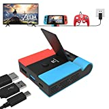Switch Base Dock, RREAKA Replacement for Nintendo Switch TV Dock Station Compact Charging Docking Playstand for Nintendo Switch Charger