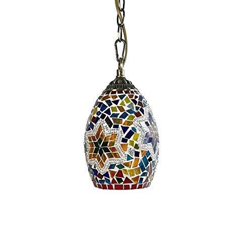 Lámpara colgante de techo turca marroquí Lámpara colgante de cristal de vid hecha a mano Lámpara colgante de estilo de mosaico otomano bohemio Lámparas colgantes para la cocina junto a la cama Cafe B