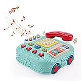 Amy&Benton 5 in 1 Baby Telefon Spielzeug für 12 18 Monate, Telefon Auto ab 1 Jahr, Aktivitätsspielzeug Telefon für Kleinkinder 1 2 3 Jahre