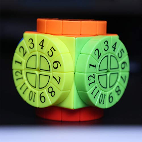 Máquina de Tiempo del Cubo de la Velocidad, Romana Doce Constelación Cubo en Relieve Puzzle para niños en Relieve - Caja de Pandora,B