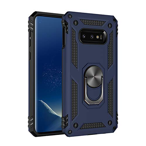 Military Grade Drop Impact for Samsung Galaxy Note 8 Case 360 Metal Rotating Ring Kickstand Holder Built-in Magnetic Car Mount Armor Shockproof Cover for Galaxy Note 8 Protection Case (Blue)