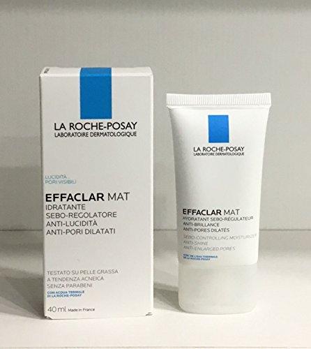 La Roche Posay - Effaclar Mat - Hidratante antibrillos, antiporos dilatados, 40ml