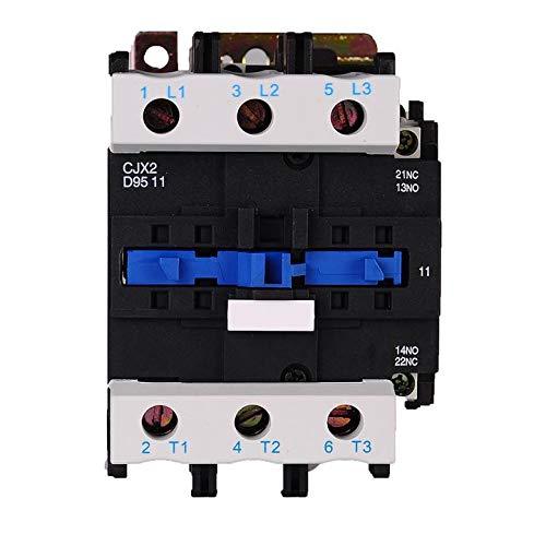 ETial CJX2-9511-DC Contactor eléctrico de distribución DC 24V 50Hz / 60Hz Bobina 95A trifásico 3 polos NO NC