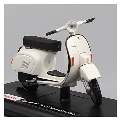 El Maquetas Coche Motocross Fantastico 1:18 para Piaggio Vespa PK 125 Automatica 1984 Motocicleta Diecast Moto Vehículos Modelo De Juguete Miniaturas para Niños Regalos Juegos Mas Vendidos
