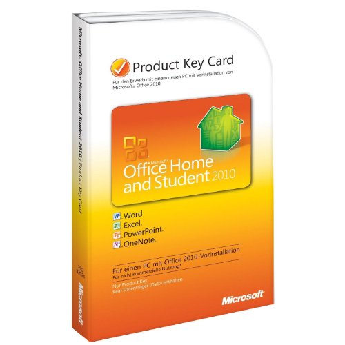 Microsoft Office Home and Student 2010 - 1PC/1User (Product Key Card)