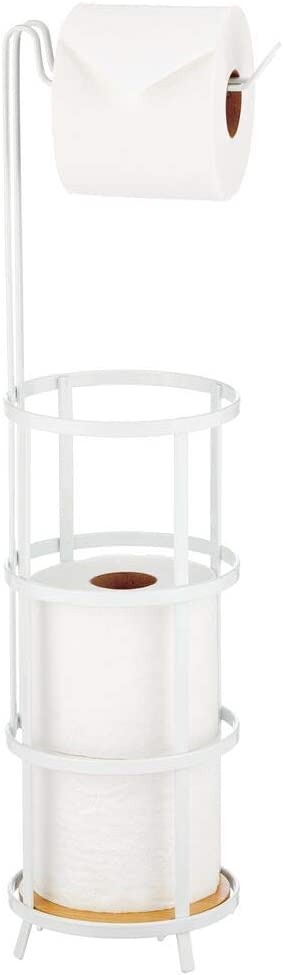 mDesign Metal Freestanding Toilet Atlanta Mall Paper Milwaukee Mall Di Roll and Holder Stand
