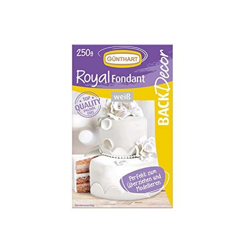 BackDecor Royal Fondant | Fondant weiss | 250 g | Palmöl frei | Modelliermasse | Hochzeit