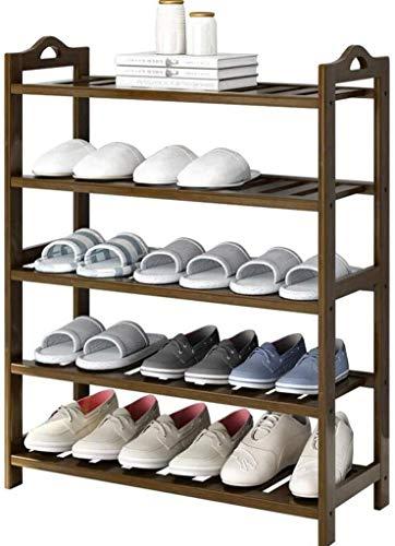 Wddwarmhome Zapato de múltiples Capas Almacenamiento de Zapatos Muebles Muebles Creativa Sencillez Bambú Organizador Estantes (Tamaño: 70 * 24 * 90 cm)