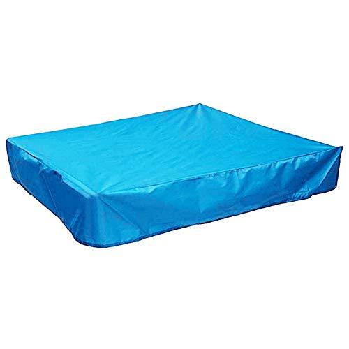 Cubierta de Caja de Arena Portátil Plegable Protección Impermeable Caja de Arena Cubierta de Caja de Arena Jardín Patio Cuadrado Multicolor Juguete Para Niños Cubierta de Foso de Arena (Blue-X