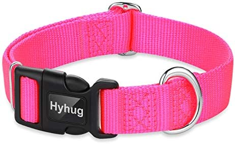 Hyhug Pets Classic Regular Heavy Duty Nylon Dog Collar with Easy to Attach and Removal Buckle product image