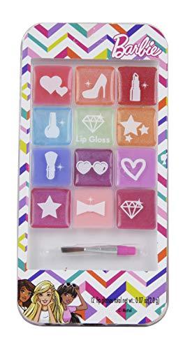 Barbie Lipgloss Set - Call Me Fabulous! Glitzer-Telefonpalette mit 12 verschiedenen Lipglossfarben...
