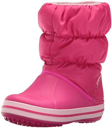 Crocs Winter Puff Boot Kids, Unisex - Kinder Schneestiefel, Pink (Candy Pink), 23/24 EU