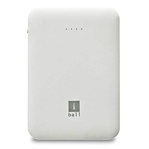 iBall 5000 mAh Power Bank (IB-5000LPS), Dual USB Output, White