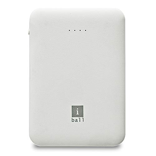 iBall 5000 mAh Power Bank (IB-5000LPS), Dual USB Output, White