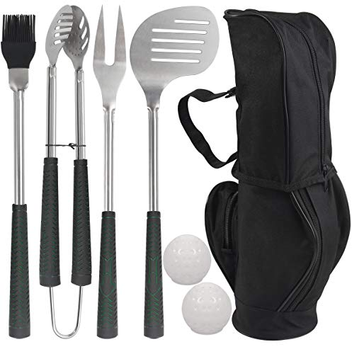 Golf-Club Style BBQ Grilling Set