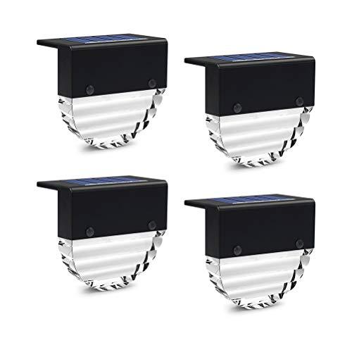 BSTOB 4Solar Wall Lights Outdoor, LED Solar Motion Sensor Security Lights para jardín, Impermeable Durable Solar Powered Lights