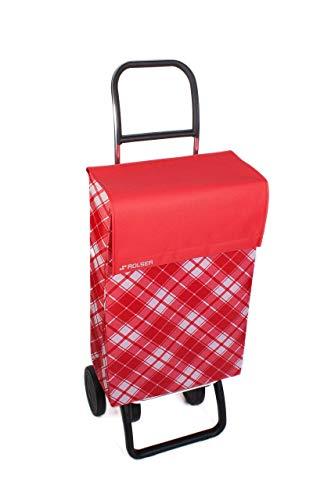 Rolser Carro de Compra, Acrílico, Rojo, 100x40x40 cm