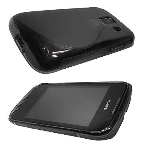 caseroxx TPU-Hülle für Huawei Ascend Y200, Tasche (TPU-Hülle in schwarz)