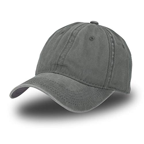 Vintage Baseball Cap 100% Washed Twill Soft Cotton Adjustable Unisex Dad-Hat (Army Green)
