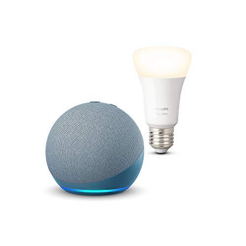 Nuevo Echo Dot (4.ª generación), Azul grisáceo + Philips Hue...