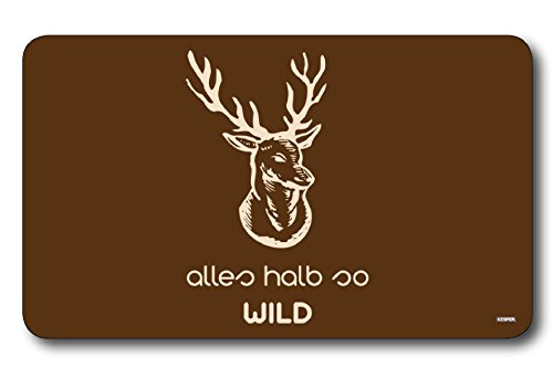 "Kesper 32311 Breakfast Board""Alles halb so WILD"" of Melamine, Multicolor"