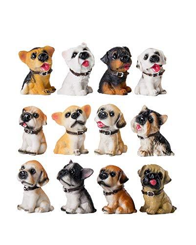 Glove 2pcs Animal Figurine Sculpture Piggy Bank Cute Resin Dog Puppy Money Bank Home Decor