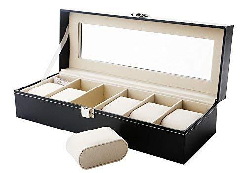 ZOGIN Scatola di immagazzinaggio con supporti per cuscini (gioielliere) 6 maglie Nero