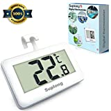 Fridge Thermometer Digital Fridge Freezer Thermometer, Suplong Digital Waterproof Refrigerator Thermometer With Easy to Read LCD Display
