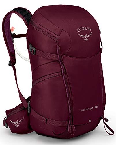 Osprey Packs Skimmer 28 Mochila de hidratación para mujer, color Rojo ciruela, tamaño talla única