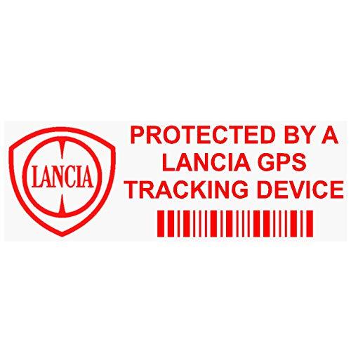Platina Plaats 5 x PPLANCIAGPSRED GPS ROOD op CLEAR Tracking Device Beveiliging WINDOW Stickers 87x30mm-Auto, Van Alarm Tracker