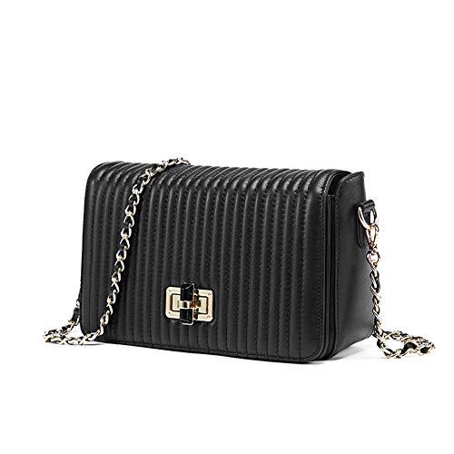 Mode mini vierkante tas, ketting schoudertas elegante wilde Messenger tas, geschikt voor winkelen werk dating Kerstmis geschenken blac