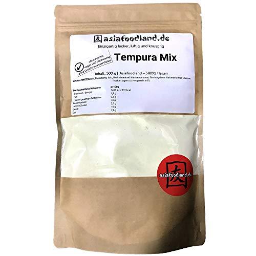 Asiafoodland - Tempura Mix - ohne Palmöl / ohne Geschmacksverstärker - vegan und hochwertig, 1er Pack (1 x 500g)