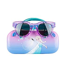 Frozen II Kids Sunglasses for Girls, Toddler Sunglasses with Kids Glasses Case