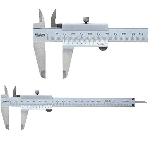 Mitutoyo Calibre de bolsillo 0-150 mm, lectura 0,02 mm (1/50 mm)