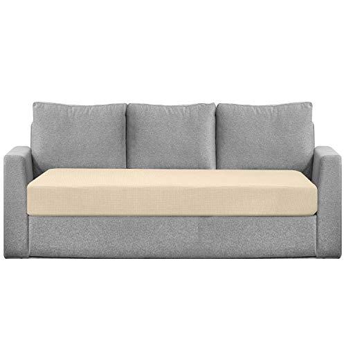 Granbest Funda de cojín de asiento hidrófugo para sofá, funda de asiento de sofá extensible en tejido jacquard (3 plazas), color beige