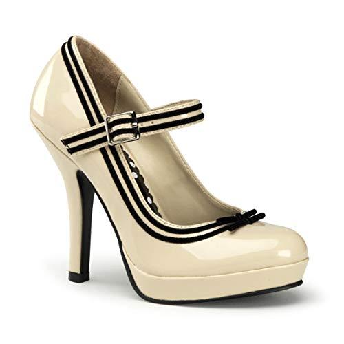 Pleaser Sec15/Crpt - Zapatos de tacón para mujer, colore Beige (Cream), talla 36 EU (3 UK)