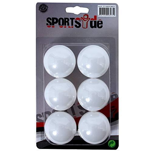 SPORT SIDE 046577 SPORTSIDE – 6 Balles de Ping Pong – Bleu – 046511 – 30 cm – Jeu de Plein Air dès 6 Ans, Plastique, 4 cm
