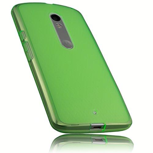 mumbi Hülle kompatibel mit Motorola Moto X Play Handy Hülle Handyhülle, transparent grün