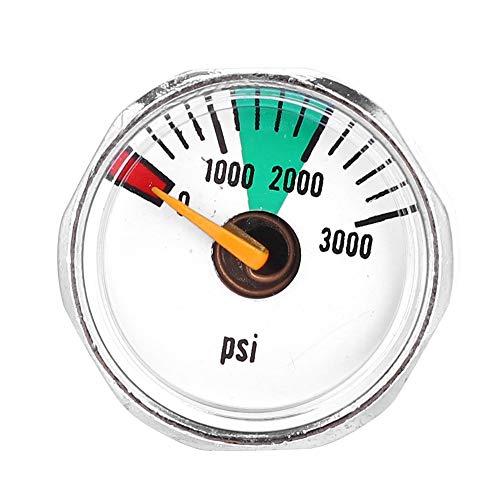 Kee nso Mini-Manometer 3000psi & 5000psi 1/8NPT Micro Air Compresso Manometer Manometer Druckprüfgerät für Paintball PCP Luftgewehr(3000psi 1/8NPT)