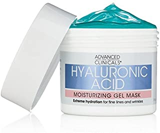 Advanced Clinicals Hyaluronic Acid Moisturizing Gel Mask with soothing chamomile. Extreme hydration for fine lines and wri...
