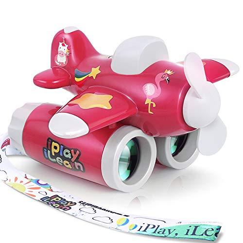 iPlay, iLearn Flynoculars 2 in 1 Kids Binocular & Handheld Fan, Backyard Camping Games, Bird Watching, Nature Explore Learning Kids Airplane Toy, Gifts for 3 4 5 6 7 Year Old Girl Boy Toddler Child