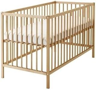 """2 XIKEA verstellbares Babybett """"SNIGLAR"""" Bettchen in 60x120cm - Gitterbett aus massiver Buche - höhenverstellbar"""