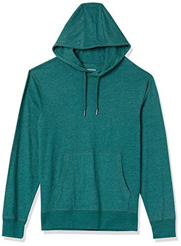 Amazon Essentials Lightweight Jersey Pullover Hoodie Fashion, Verde Bosque, US M (EU M)