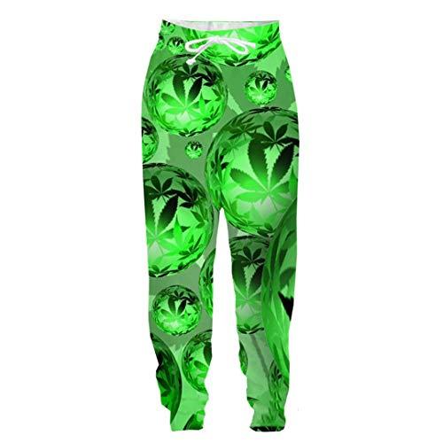 IUSHALEOD 3D-Druck Grüne Pflanzen Langarm Hoodies Personality Blatt Westen Frauen Männer Outwear Sweatshirts Sport Pullover 7 XL